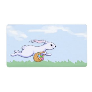 Easrer Rabbit Run Gift Tag label
