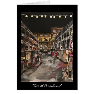 """""""East 4th Street Moment"""" Cleveland, Ohio Card"""