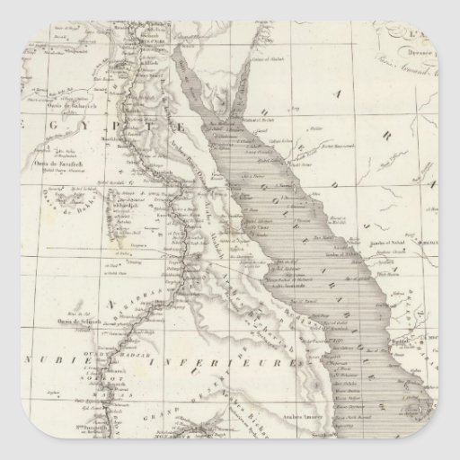 East Africa Map Square Sticker