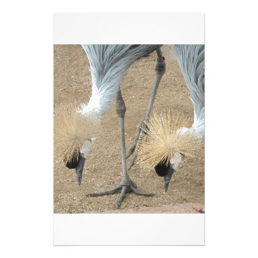 East African Crowned Crane Stationery Paper