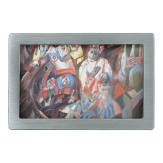 East and West by Pavel Filonov Rectangular Belt Buckle