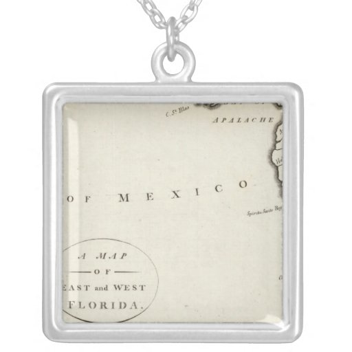 East and West Florida Square Pendant Necklace