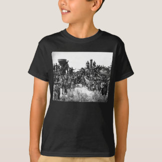 East and West Shaking Hands at Laying Last Rail T-Shirt