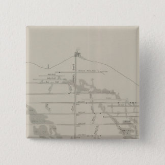 East and West Vertical Section, New Almaden Mine Pinback Button