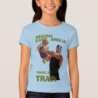 East Anglia England retro vintage travel by train T-Shirt