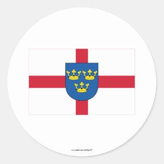 East Anglia Flag Classic Round Sticker