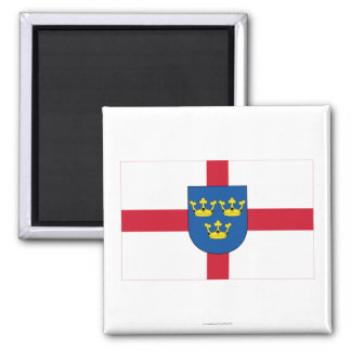 East Anglia Flag 2 Inch Square Magnet