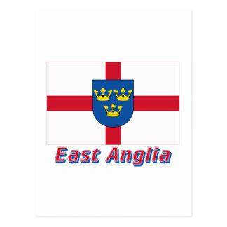 East Anglia Flag with Name Postcard