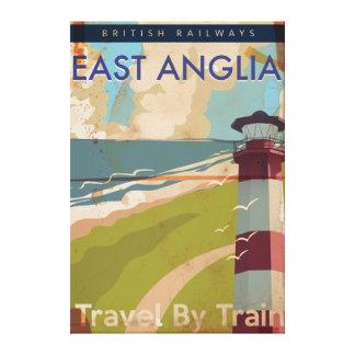 East Anglia Vintage Travel Poster Canvas Print