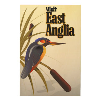 East Anglia vintage travel poster Wood Wall Art