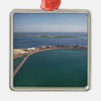 East Arm Port, Darwin Harbour Square Metal Christmas Ornament