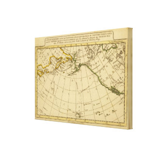 East Asia, West North America Canvas Print