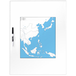 East Asia Whiteboard Map