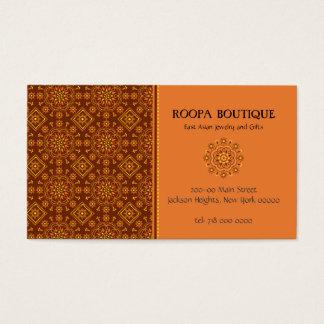 East Asian Rosette Pattern Business Card