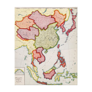 East AsiaPanoramic MapEast Asia Canvas Print