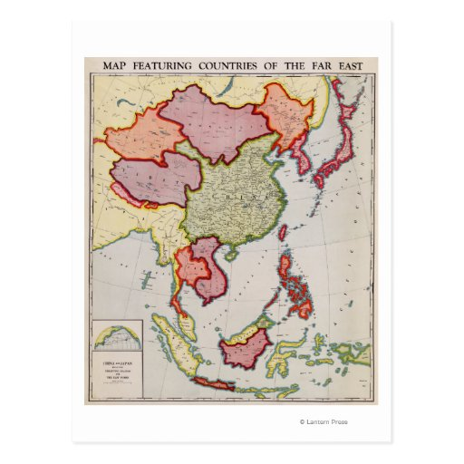 East AsiaPanoramic MapEast Asia Postcard