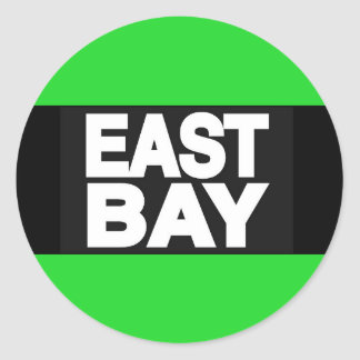 East Bay 2 Green Classic Round Sticker