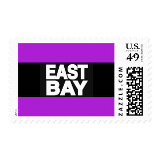 East Bay 2 Purple Postage Stamps