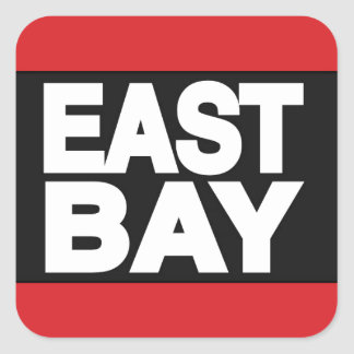 East Bay 2 Red Square Sticker