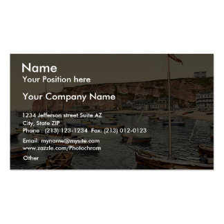 East Beach and South Point, Helgoland, Germany cla Business Card