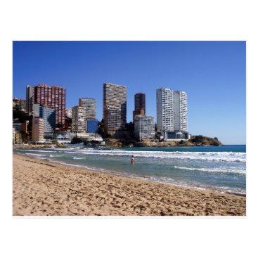 Beach Themed East beach of Benidorm, Spain Postcard