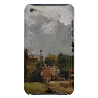 East Bergholt Church from Church Street (oil on pa iPod Case-Mate Case