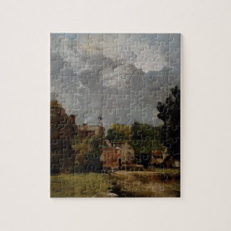 East Bergholt Church from Church Street (oil on pa Jigsaw Puzzle
