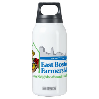 East Boston Farmers Market 10 Oz Insulated SIGG Thermos Water Bottle