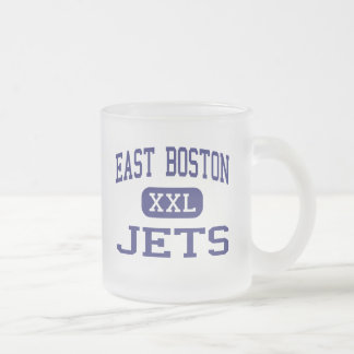 East Boston - Jets - High - East Boston 10 Oz Frosted Glass Coffee Mug