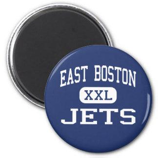 East Boston - Jets - High - East Boston Fridge Magnet