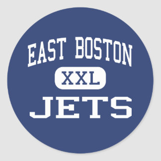 East Boston - Jets - High - East Boston Round Stickers