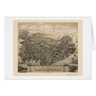 East Boston, MA Panoramic Map - 1879 Greeting Cards