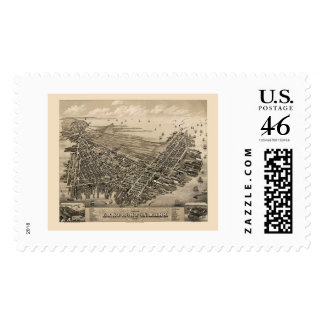 East Boston MA Panoramic Map - 1879 Stamps