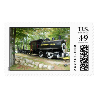 East Branch and Lincoln Train Postage Stamp