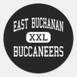 East Buchanan - Buccaneers - High - Winthrop Iowa Round Stickers