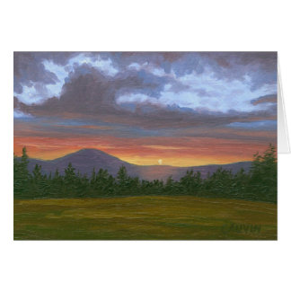 East Burke Vermont Sunset Card