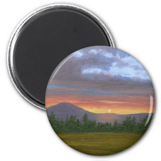 East Burke Vermont Sunset Magnet