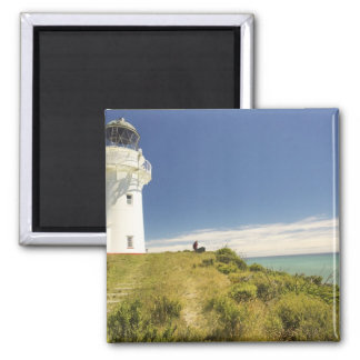 East Cape Lighthouse, Eastland, New Zealand 2 Inch Square Magnet