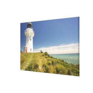 East Cape Lighthouse, Eastland, New Zealand Canvas Print