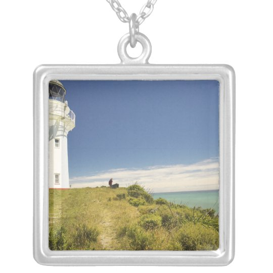 East Cape Lighthouse, Eastland, New Zealand Silver Plated Necklace
