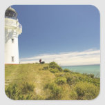 East Cape Lighthouse, Eastland, New Zealand Square Sticker