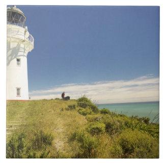 East Cape Lighthouse, Eastland, New Zealand Tile