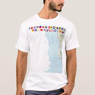 East Cape  Mormon Key Florida Nautical Chart Shirt