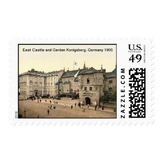 East Castle and Garden Konigsberg, Germany 1905 Postage
