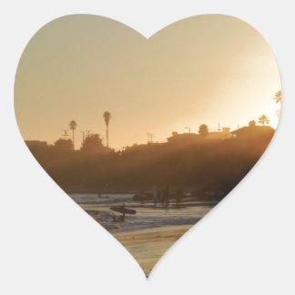 East Cliff Drive Beach Heart Sticker