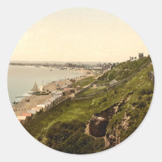 East Cliff, Felixstowe, Suffolk, England Classic Round Sticker