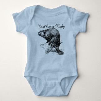 East Coast Baby beaver cool cute one piece Baby Bodysuit