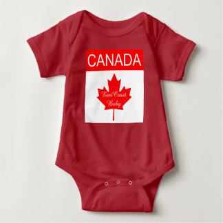East Coast Baby   Canada Maple leaf one piece Tee Shirt