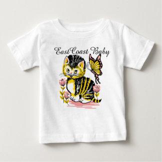 East Coast Baby  cute kitty cat butterfly flower Baby T-Shirt
