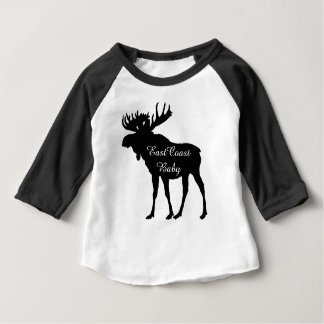 East Coast Baby cute rustic moose Christmas Baby T-Shirt
